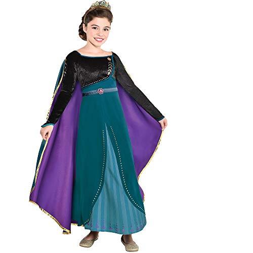 Party City Disney Frozen 2 Epilogue Anna Halloween Costume for Kids, Medium, Includes Dress, Leggings, For Pretend Play