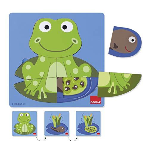 Goula - Puzzle en 3 niveles con diseño de rana (Diset 53122) , color/modelo surtido