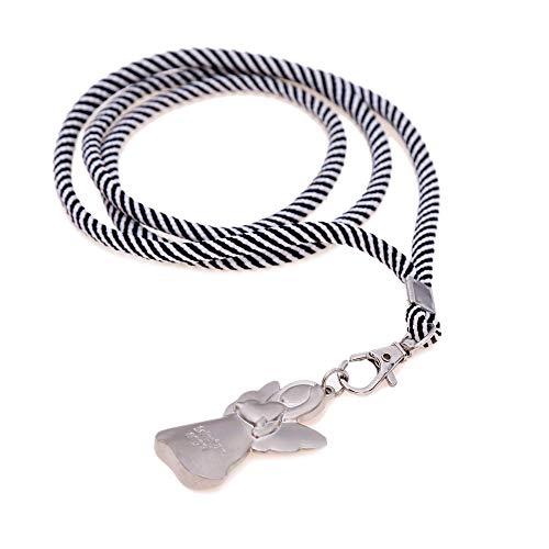 Schlüsselband mit Karabiner und Schutzengel Anhänger - Handmade Schlüsselanhänger zum umhängen - Glücksbringer für Mädchen, Kinder und Familie - Geschenk zum Abschied
