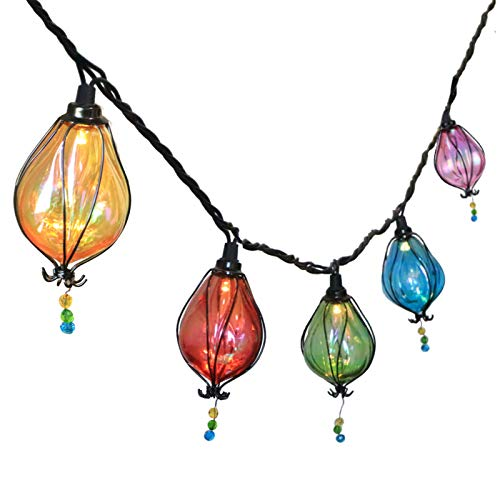 Vigdur Multicolor Fairy String Lights with 10 Bulbs Connectable Waterproof Decorative Indoor String Lights for Christmas Party Birthday Wedding Festival Bedroom Outdoor Patio