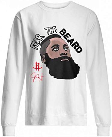 Men s Women s Casual T Shirts Ja mes H Arden F Ear The B eard Sweatshirt Men Women s Cute Graphic product image