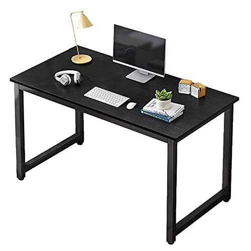 Escritorio de computadora Mesa de trabajo de escritura de estudio Estación de trabajo de oficina en casa Escritorio del juego del ordenador portátil de la PC Marco de acero estable 47,2 pulgadas,Negro