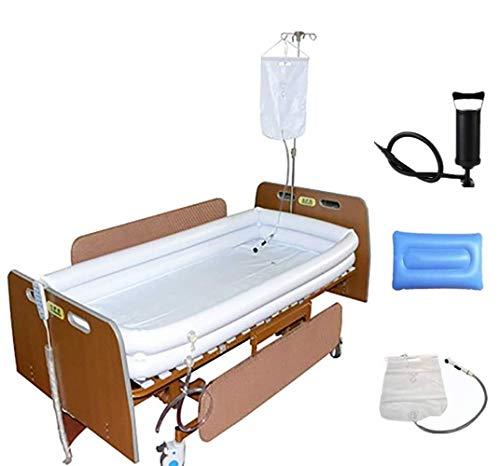Medizinisches aufblasbares Badewannen-System – für Erwachsene im Bett, unterstützende Hilfe Badewannenbecken mit Wasserbeutel für Behinderte, bettlägerige Menschen, Schwangerschaft