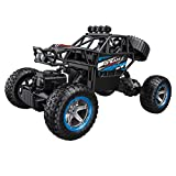 Nivalkid 1:14 2.4G Remote Control Off-Road Vehicle Truck High Speed RTR Buggy RC Car Four-wheel Drive Climbing Off-road Remote Control Car (Blue)