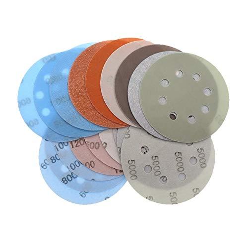 10pcs 5 Inch 8 Holes FV Superfine Sandpaper Wet/Dry Sanding Discs Hook Loop Auto Body Film Paint Abrasive Sand Paper 600#-5000# DUO ER (Color : 10pcs, Grit : 5000)