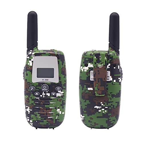 Guardare indietro Camouflage per Bambini Walkie-Talkie Macchina Genitore-Bambino Giochi di attività Giocattolo Telefono(Color:Mimetico Verde)