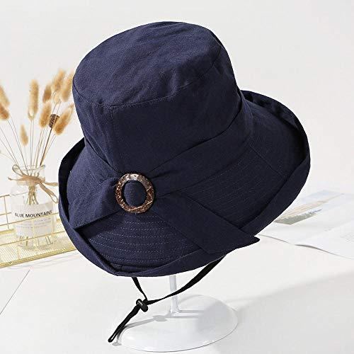 POWARM Sombrero Mujer Verano Protección UV Hebilla De Madera Algodón Rizado Verano...