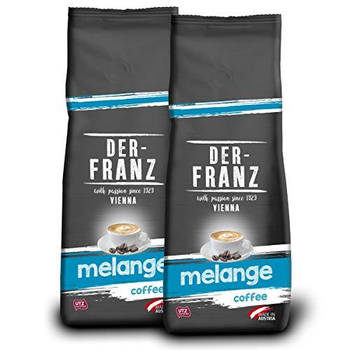 Der-Franz Melange-Kaffee UTZ, gemahlen, 2x500g