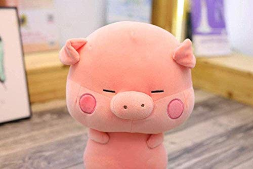 DINGX Juguete de Peluche 33 cm Juguetes de Peluche Lindo Cerdo pelado Cerdo muñeca Zodiaco Chino Suave Encantador Animales Almohada para niños niños niñas Regalos de cumpleaños chuanze