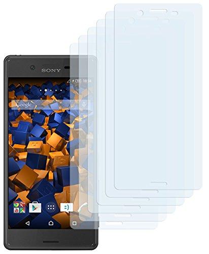 mumbi Schutzfolie kompatibel mit Sony Xperia X Folie, Xperia X Performance Folie klar, Bildschirmschutzfolie (6X)