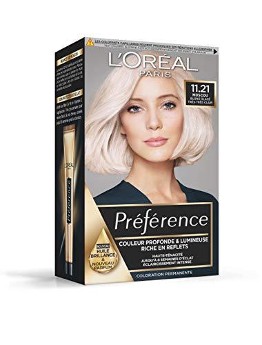 L'Oréal Paris Préférence Coloration Permanente Cheveux, Nuance : Moscou (11.21), Blond Glacé Très Très Clair