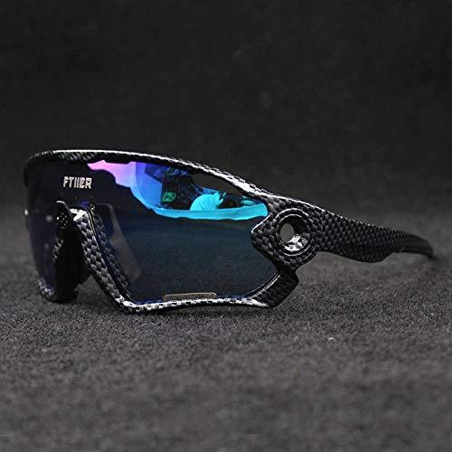 Gafas de Ciclismo UV400, Sol fotocromáticas for Bicicleta, Sol for Ciclismo Deportivo, al Aire Libre, Senderismo for Pesca (Color : 10 Full Color)