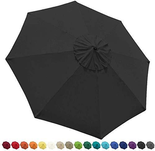 EliteShade 9ft Patio Umbrella Market Table Outdoor Deck Umbrella Replacement Canopy (Teal)