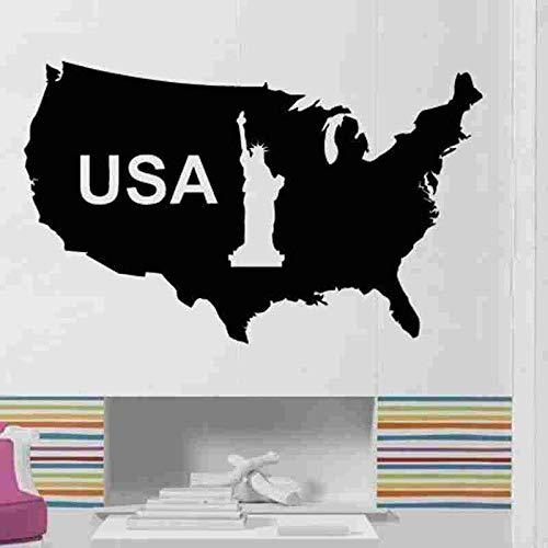 Amerikanischer Kartenaufkleber Amerikanischer Aufkleber Wandaufkleberplakat Vinylwandaufkleber Wandaufkleber dekoratives Wandbild Amerikanischer Kartenaufkleber 58X94CM