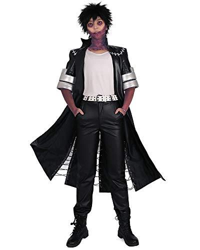 miccostumes Men's Dabi Villain Cosplay BNHA Costume Outfit (XS) Black