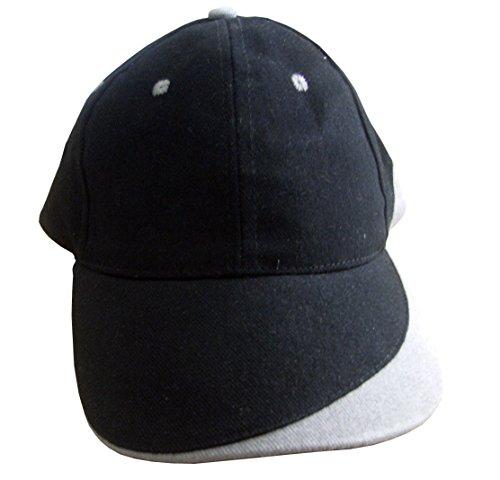 Kdomania - Casquette Top Qualité Noire et Grise Avec Impression de vos Initiales