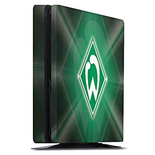 DeinDesign Skin kompatibel mit Sony Playstation 4 PS4 Slim Aufkleber Folie Sticker Offizielles Lizenzprodukt SV Werder Bremen Wappen