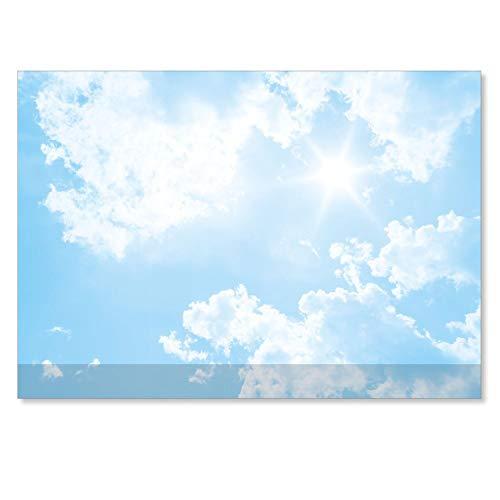 easydruck24de Schreibtischunterlage mit Wolken-Motiv und Kantenschutz I DIN A2 I 40 Blatt I aus Papier zum Abreißen I Unterlage für Büro und Zuhause I dv_602