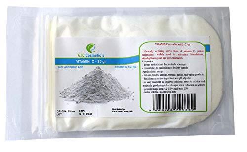 Vitamina C (ácido ascórbico) - 25 gr - Uso en lociones, tónicos,...