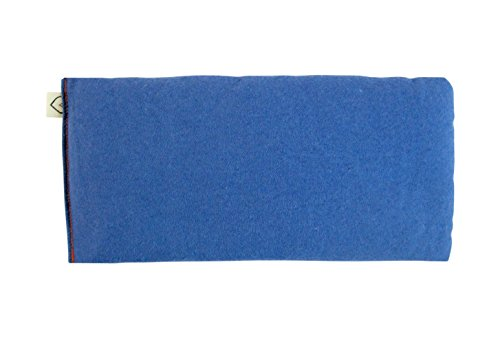 Unscented Flax Organic Eye Pillow -Soft Cotton 4 x 8.5 - choose from a rainbow of soothing colors - periwinkle blue purple