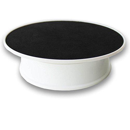 Drehscheibe, motorisiert, schwarzer Samt, 20,3 cm, ideal zur Ausstellung von Schmuck / Hobbyartikeln / Sammelstücken, multi, Dia.:8