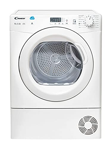 Candy CSVC8LG Freestanding Condenser Tumble Dryer, Sensor Dry, NFC Connected, 8 kg Load, White