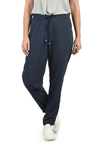 BlendShe Amerika Damen Stoffhose Lange Hose Bequeme Loose Fit Hose, Größe:L, Farbe:Mood Indigo (20064)