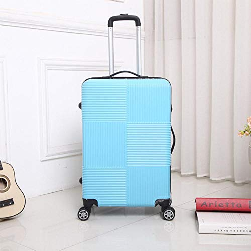 SNV Travel Rolling luggage Sipnner wheel Women suitcase on wheels men fashion cabin carry-on trolley box luggage,Blue,24'