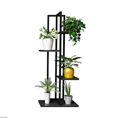 Support à Fleurs en Fer à 4 Couches avec Support de Rangement/Support de Salon, Salon et Support pour Plantes Multifonctions pour intérieur/extérieur, présentoir à Fond Vertical en métal Blanc