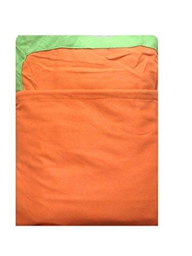 Coprilettino Telo Mare Lettino con Tasche e Borsetta in Microfibra (Arancio)