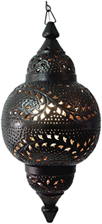 Guru-Shop Metall Deckenleuchte in Marrokanischem Design, Orientalische Deckenlampe, Eisen, 65x30x30 cm, Orientalisches Kunsthandwerk