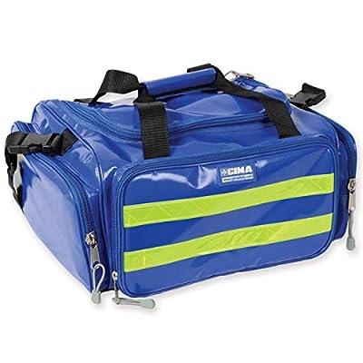 GIMA - Emergency Bag, Blue Colour, in Polyester, PVC coated, Emergency, Trauma, Rescue, Medical, First Aid, Nurse, Paramedic Multi Pocket Bag, 35x45x21 cm by Gima S.p.A.