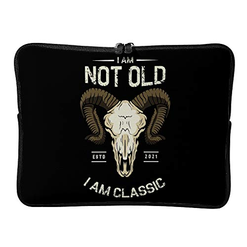 Standard I Am Not Old I Am Classic Laptop Bags Water Resistant Slim Tablet Case Suitable for Commuter White 12 Zoll
