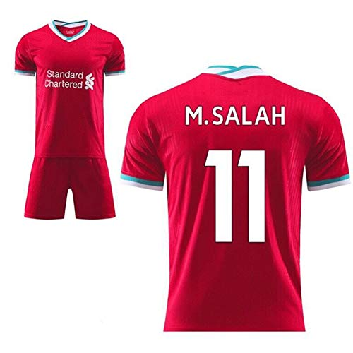 Herren Fan Fußball Trikot Set Liverpool F.C Home/Away Fußball Trikot Shorts T-Shirt Trainingskleidung für Erwachsene Kinder,Home/11,XL