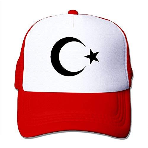 Preisvergleich Produktbild Voxpkrs Die justierbaren Hut-Frauen der Türkei-Flaggen-Männer Hip Hop-Kappen / Baseballkappe Netzrücken U8I0013105