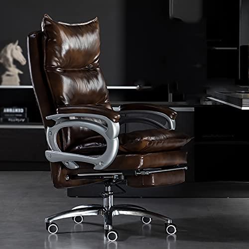 YDYBY Sedia da Gaming Ergonomica da Funzione,Sedia Ufficio Schiena Alta High Supporto Lombare Sedia direzionale Cuscino in Spugna con Poggiapiedi Tavoli e sedie,Coffee Color