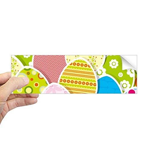 DIYthinker Adesivo retangular de para-choque com tema de cultura de ovos coloridos para festivais de Páscoa