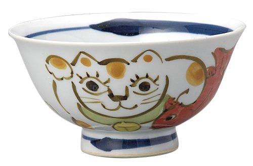 Rechte Hand erhoben Katzenfutter Sch?ssel Porzellan winkt Katze (Nippon Maskottchen Collection) 240 577 (Japan Import / Das Paket und das Handbuch werden in Japanisch)