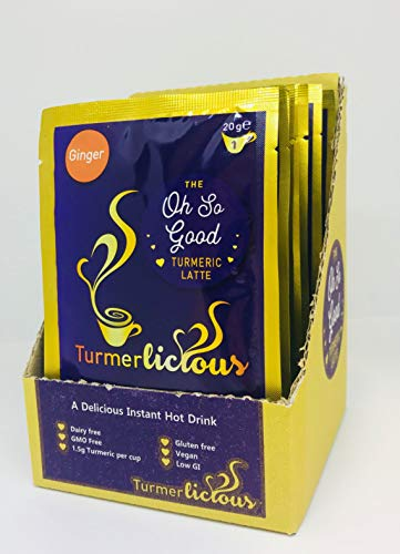 Turmerlicious - Ginger Turmeric Latte 12x20g Single Serving