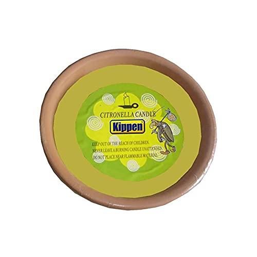 KIPPEN Paquete de 3 antorchas perfumadas de citronela de Barro de Terracota, NA, 13x4 cm