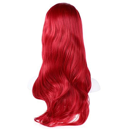 Peluca Larga Roja marca Minkissy