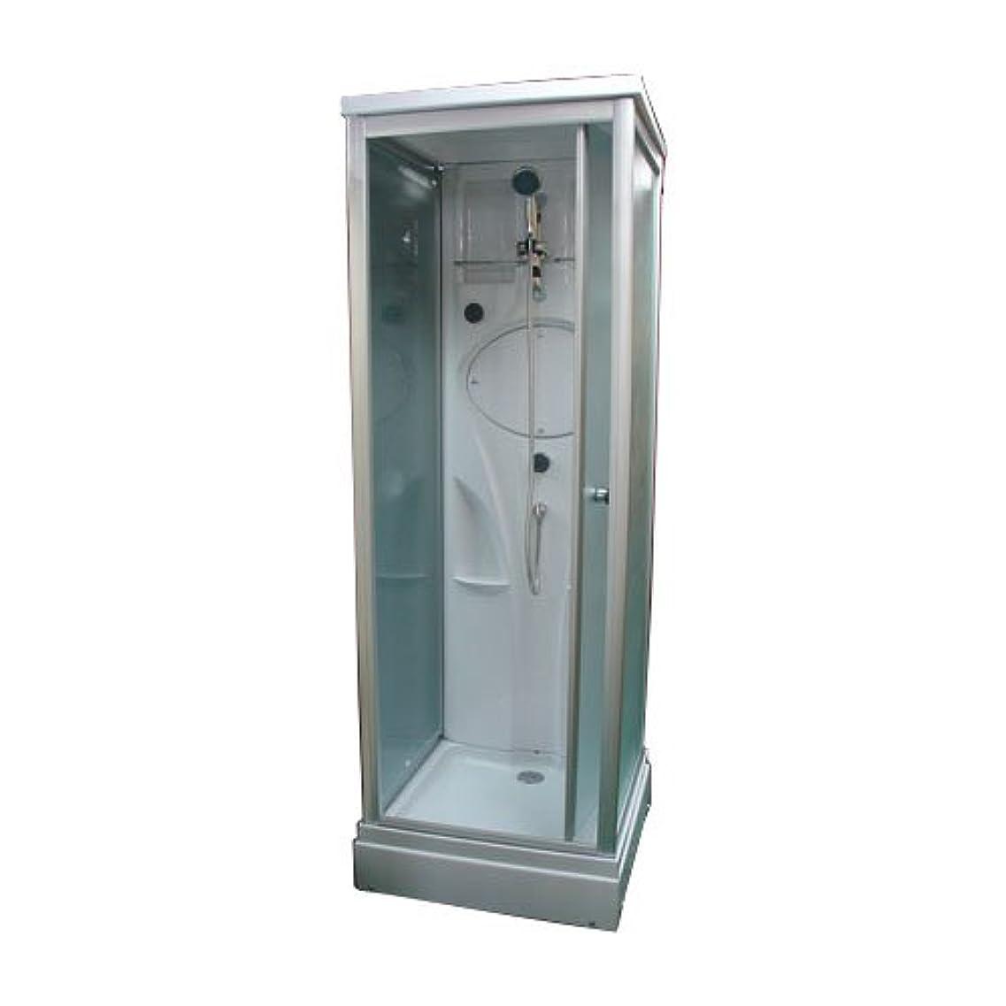 不幸不満買収シャワーブース FRP製 ガラス:スモーク [幅76.5×奥行76.5×高220cm] INK-8039-3s