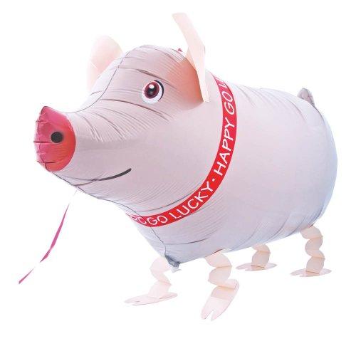 bws R2259 Folienballon Schweinchen Laufen rosa