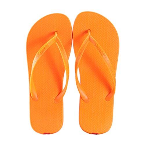 Casual Tongs Unisexe Plage Chaussons Anti-Slip Maison Slipper Sandals Orange