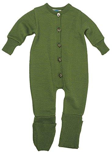 Reiff Baby Overall/Schlafanzug Frottee, 70% Merino-Schurwolle kbT. / 30% Seide (74/80, grün)