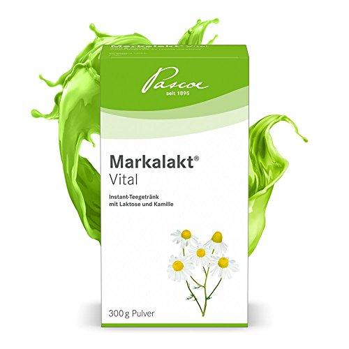 Pascoe® Markalakt Vital Pulver: Instant-Teegetränk mit Laktose und Kamille - Kamille unterstützt das Wohlbefinden im Magen-Darm-Trakt - ohne Zusatzstoffe - hergestellt in Deutschland - 300 g