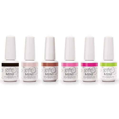 Gelish Mini Passion Collection 9 mL Soak Off Gel Nail Polish Set, 6 Pack