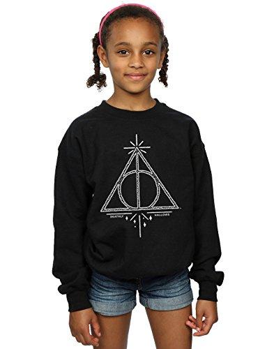 HARRY POTTER niñas Deathly Hallows Symbol Camisa De Entrenamiento 12-13 Years Negro