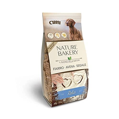 Cliffi Biscotti per cani RELAX NATURE BAKERY 100% naturali con CAMOMILLA e PASSIFLORA - 200 gr