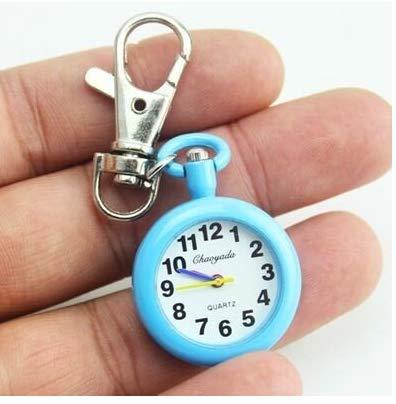 Gwill Reloj de bolsillo de cuarzo vintage con broche de enfermera, reloj de bolsillo para mujer popular